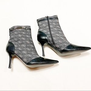 Guess Boone G Logo Ankle Heeled Bootie - 7.5M